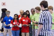 Students focus in FIRST Robotics competition