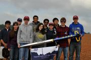 Students from Thomas Jefferson High School in Virginia prepare to launch their rocket in NASA's Student Launch Initiative competition