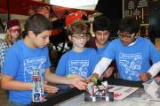 Students compete in robotics competition at the Aerospace Museum of California